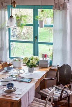 Jadalnia w stylu rustykalnym zaprojektowana przez J. Paszko Ochotny_sesja dla Moje Mieszkanie
