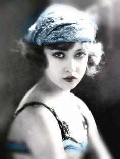 Colorized Ziegfeld girl Doris Eaton