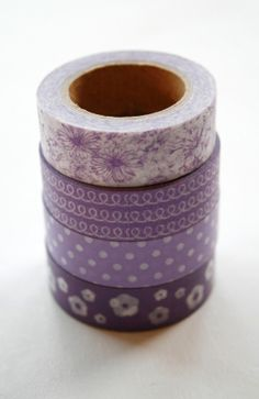 Washi Tape Set  15mm  Combination AE  Shades of by InTheClear, $14.20