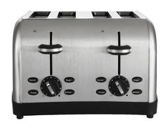 Stainless Steel 4 Slice Toaster Wide Slots Bagel Frozen Reheat Settings New #Oster