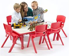 Table and chair sets are great for preschools and day cares.