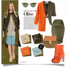 What To Wear With Olive by queenvirgo on Polyvore featuring Gucci, Chloé and Oliver Peoples