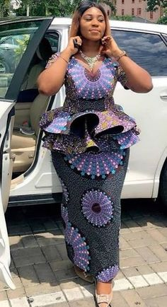 2020 Ankara Peplum Styles: Best Collections for Peplum Styles Short African Dresses, African Blouses, Latest African Fashion Dresses, African Print Dresses, African Print Fashion, African Prints, African Traditional Dresses, African Attire, Malm