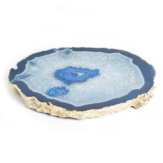 Modern Home Accessories | Blue And Gold Agate Trivet | Jonathan Adler