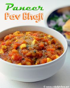 Paneer pav bhaji recipe Veg Recipes, Indian Food Recipes, Vegetarian Recipes, Ethnic Recipes, Pav Bhaji Masala, How To Make Paneer, Bhaji Recipe, Fire Cooking, Recipe Steps