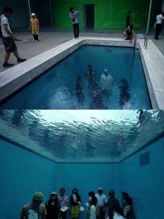 #water #museum #pool #illusion #instalation