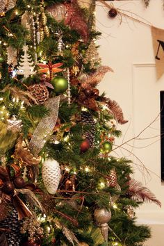 Christmas tree design - coppers & greens - Dining Room