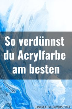 Acrylfarbe verdünnen Anleitung You want to dilute acrylic paint without changing the quality of the paint? In this guide, you'll learn all the info to make your acrylic paint smoother so they can flow or even pour. Pour Painting, Painting & Drawing, Art Supply Stores, Ecole Art, Liquitex, Acrylic Pouring, Art Tips, Painting Techniques, Art Tutorials
