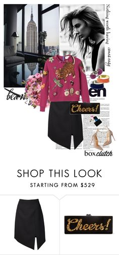 """Cheers!"" by andreaarg ❤ liked on Polyvore featuring Yves Saint Laurent, Edie Parker, women's clothing, women, female, woman, misses and juniors"