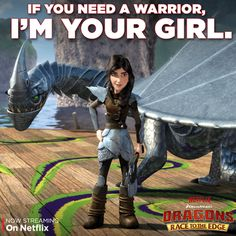 """Heather is one tough viking! See her return in the """"Have Dragon Will Travel, Part 1"""" episode on Netflix."""