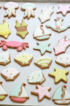 By the Sea Decorated Cookies | Sweetopia