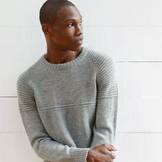 Alpaca wool sweaters for him. Mens Fashion Sweaters, Knitwear Fashion, Mens Fashion Suits, Casual Sweaters, Sweater Fashion, Wool Sweaters, Mens Knit Sweater Pattern, Sweater Knitting Patterns, Men Sweater
