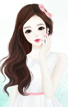 Cute girl cartoon group with items Cute Girl Drawing, Cartoon Girl Drawing, Cartoon Drawings, Cute Drawings, Cartoon Images, Anime Korea, Korean Anime, Korean Art, Girls Manga