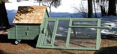 The Victoria Tractor to 6 chickens) from My Pet Chicken Pet Chickens, Raising Chickens, Chickens Backyard, My Pet Chicken, Chicken Coops, Chicken Houses, Chicken Tractors, Urban Homesteading, Urban Farming