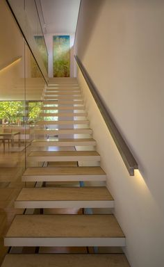 Lighting in handrail - beautiful idea!