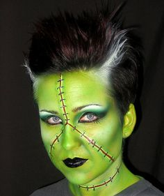 Lots  of face painting ideas for Halloween......30 stitch face painting