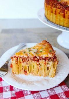 Italian pasta pie-cones (rigatoni) | Easy recipes.