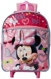 6d33d72229 Disney Girl s Minnie Mouse 12 Inch Rolling Backpack