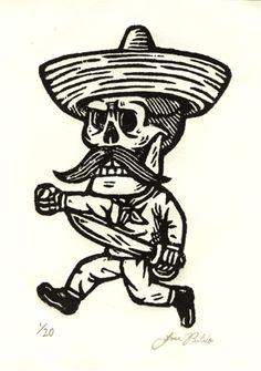 sugar skull skeleton with sombrero - Google Search