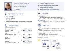 My resume, short version by Madalina Taina