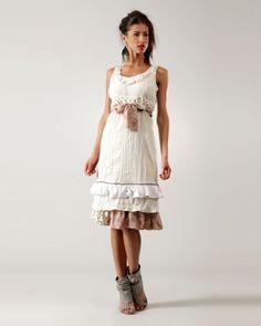 Designer : DRESSES OUTLET - OFF WHITE SLEEVELESS FLOUNCE DRESS - $55 Today on Mynetsale.com.au!