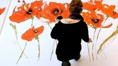 how to paint poppies - YouTube