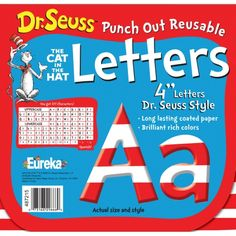 Dr. Seuss™ Punch Out Deco Letters, Stripe, EU-487215