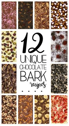 12 Unique Chocolate Bark Recipes for Gifting - Looking for holiday food gift ideas? These easy treats are perfect for thanksgiving, Christmas, Easter, Halloween, Valentines Day or a homemade hostess gift. Homemade in minutes with easy packaging ideas these DIY gourmet chocolate bark recipes can be gluten free, vegan or suitable for a variety of allergies.