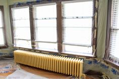 Radiator painting can be time consuming and tedious, but not with this tutorial! Lean how to paint a radiator the easy way! Decor, Radiator Cover, Curtains, Blinds, Diy Radiator Cover, Home Decor