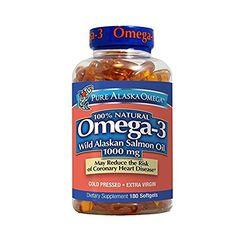 Pure Alaska Omega Wild Salmon Oil mg Softgel, 180 Ct Omega Oils, Omega 3, Krill Oil, Fish Oil, 3 Fish, Vitamins For Women, Top 5, Vitamins And Minerals, Eating Habits