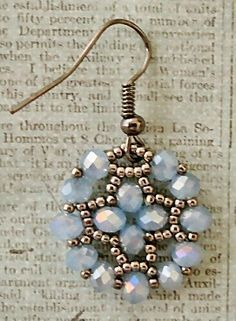 Linda's Crafty Inspirations: Video Tutorial - Nunzia's Easy Earrings by StephanieTerry Seed Bead Jewelry, Seed Bead Earrings, Diy Earrings, Earrings Handmade, Beaded Jewelry, Handmade Jewelry, Beaded Bracelets, Seed Beads, Jewellery