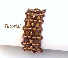 Tutorial Tila Twins Bracelet  Beading Tutorials and by Ellad2, $6.00