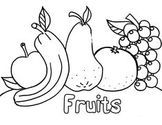 vegetables and fruits | Coloring Pages Of Fresh Fruit and Vegetables
