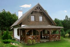 15 Thatched Roof Ideas, Advantages and Disadvantages Barn Apartment, Pole Buildings, Thatched Roof, Cozy Cabin, Cabin Homes, Lake Homes, Little Houses, Home Fashion, Old Houses