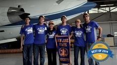 Best of 2014: A team of SJSU engineering students was selected by NASA to participate in its innovative Reduced Gravity Education Flight Program in Houston. #sjsu #bestof2014 http://go.sjsu.edu/sjsu-nasa-flight
