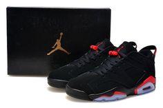 Original Nike Air Jordan 6 Low Black Red Sport Sneaker for Online e90609cd9