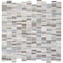 Daltile   Stone Mosaics, Chenille White/ Silver Screen 1 x Random Mosaic DA08 (Kitchen backsplash option)
