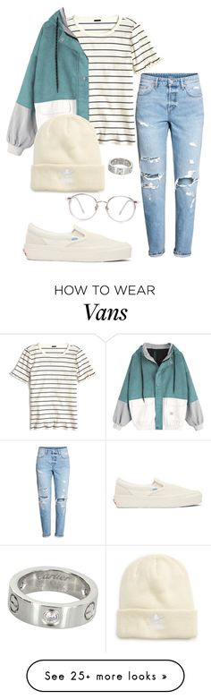 """#No name"" by eemaj on Polyvore featuring J.Crew, H&M, Vans, adidas Originals and Cartier"