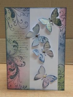 Card from Bec's first make and take workshop as a Kaszazz consultant
