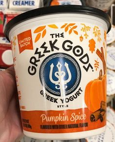 Greek Gods, Greek Yogurt, Coffee Cans, Pumpkin Spice, Spices, Geek Stuff, Canning, Drinks, Food