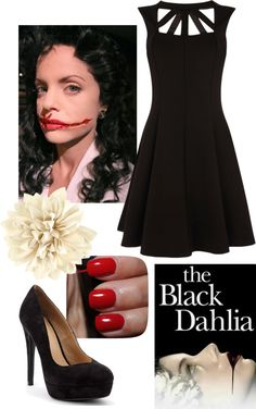 """""""Black Dahlia Costume"""" by jodith-ealy on Polyvore"""