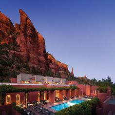 The resort borrows inspiration from the surrounding red rocks of Sedona by using red adobe throughout, accented with Native American-inspired decor and details like hand-woven rugs. Explore the spiritual canyons that were once home to the ancient Anasazi tribe or take a stargazing tour of the desert sky. Prepare to emerge from the Mii amo resort with a new outlook on life!