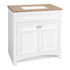W Bath Vanity In White With Solid Surface Technology Vanity Top In  Cappuccino With White Basin