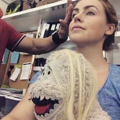 Getting hair and make up ready with @emhampshire 's #Bumble. #12Monkeys