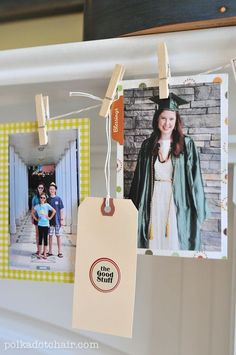 DIY Thanksgiving Family Memory Banner - a great idea for a family Thanksgiving tradition, make a pennant with photos of all the things you are grateful for.