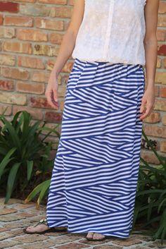 Seamingly Smitten: Knit Maxi Skirt Sewing Pattern for Women - Women's Maxi Skirt pattern