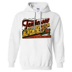 Vintage State Sticker Tennessee Sweatshirt Hoodie - California Republic Clothes