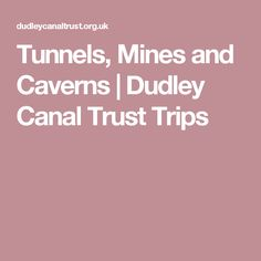 Tunnels, mines and caverns at Dudley Canal Trust Places To Go, Trips, Viajes, Traveling, Travel