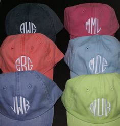 775e7867fce CUTE!! monogrammed cap is perfect for vacations