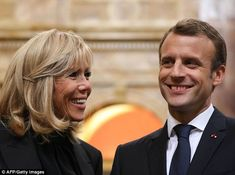 The first couple of France are pictured on their US state visit to Washington DC this week...